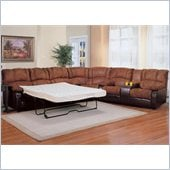Coaster Ronan L-Shaped Sectional with Sleeper Sofa in Brown