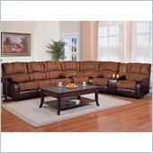 Coaster Ronan L-Shaped Sectional in Brown