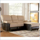 Coaster Microfiber Reclining Sectional in Beige