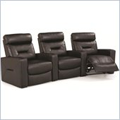 Coaster Casey Contemporary Three Seat Home Theater Seating in Black