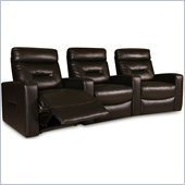 Coaster Casey Contemporary Three Seat Home Theater Seating in Brown