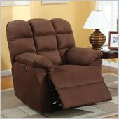 Coaster Microfiber Power Recliner Chair in Chocolate Microfiber