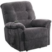 Coaster Power Lift Recliner Chair with Remove Control in Dark Grey