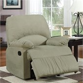 Coaster Microfiber Upholstered Glider Recliner Chair in Sage
