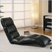 Coaster Convertible Gaming Lounge Chair in Black Faux Leather