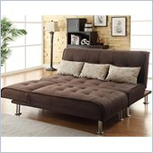 Coaster Transitional Styled Sectional Sofa Sleeper in Brown