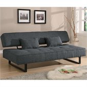 Coaster Contemporary Armless Sofa in Grey