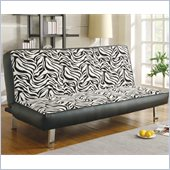 Coaster Zebra Print Convertible Sofa
