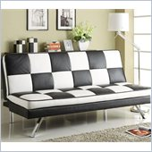 Coaster Click Clack Retro Faux Leather Checked Sofa