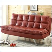Coaster Casual Extra Plush Sofa in Red Faux Leather