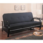 Coaster Contemporary Metal Futon Frame in Black