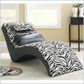 Coaster Accent Seating Modern Zebra Print Furniture Chaise