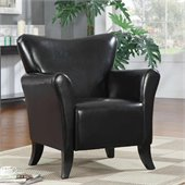 Coaster Accent Seating Contemporary Vinyl Upholstered Chair in Black