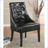Coaster Upholstered Black Accent Chair in Cappucino Finish