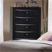 Coaster Briana 5 Drawer Chest in Glossy Black Finish