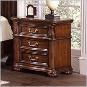 Coaster DuBarry Nightstand in Rich Brown Finish