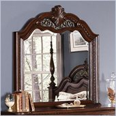 Coaster DuBarry Mirror in Rich Brown Finish