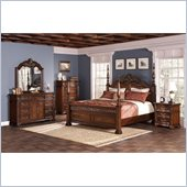 Coaster DuBarry 6 Piece Bedoom Set in Rich Brown Finish