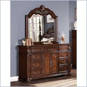 Coaster DuBarry Dresser and Mirror Set in Rich Brown Finish
