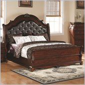 Coaster Priscilla Bed in Brown Cherry Finish
