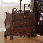 Coaster Priscilla Nightstand in Brown Cherry Finish