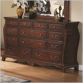Coaster Priscilla Dresser in Brown Cherry Finish