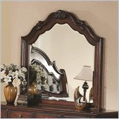 Coaster Priscilla Mirror in Brown Cherry Finish