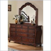 Coaster Priscilla Dresser and Mirror Set in Brown Cherry Finish