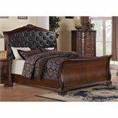 Coaster Maddison Bed in Brown Cherry Finish