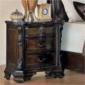 Coaster Maddison Nightstand in Brown Cherry Finish