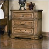 Coaster Edgewood 3 Drawer Nightstand in Brown Oak Finish