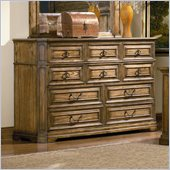 Coaster Edgewood 10 Drawer Dresser in Brown Oak Finish