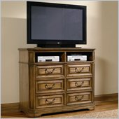 Coaster Edgewood 6 Drawer Media Chest in Warm Brown Oak Finish