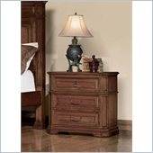 Coaster Edgewood 3 Drawer Nightstand in Cherry Finish