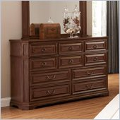 Coaster Edgewood  10 Drawer Dresser in Cherry Finish