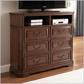 Coaster Edgewood 6 Drawer Media Chest in Cherry Finish