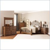 Coaster Edgewood 4 Piece Bedroom Set in Brown Oak Finish