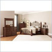 Coaster Edgewood 4 Piece Bedroom Set in Cherry Finish