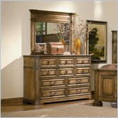 Coaster Edgewood Dresser and Mirror Set in Brown Oak Finish
