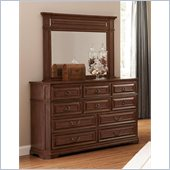 Coaster Edgewood Dresser and Mirror Set in Cherry Finish
