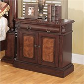 Coaster Grand Prado Nightstand in Warm Cherry Finish