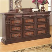 Coaster Grand Prado Dresser in Warm Cherry Finish
