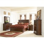 Coaster Foxhill 5 Piece Bedroom Set in Deep Brown Finish