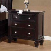 Coaster Sandy Beach Nightstand in Cappuccino Finish