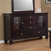 Coaster Sandy Beach Dresser in Cappuccino Finish
