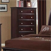 Coaster Sandy Beach 5 Drawer Chest in Cappuccino Finish