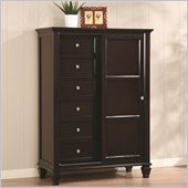 Coaster Sandy Beach 8 Drawer Chest in Cappuccino Finish