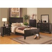 Coaster Sandy Beach 3 Piece Bedroom Set in Cappuccino Finish