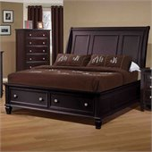 Coaster Sandy Beach Sleigh Bed in Cappuccino Finish
