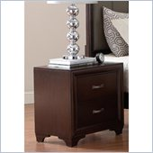 Coaster Simone 2 Drawer Nightstand in Cappuccino Finish